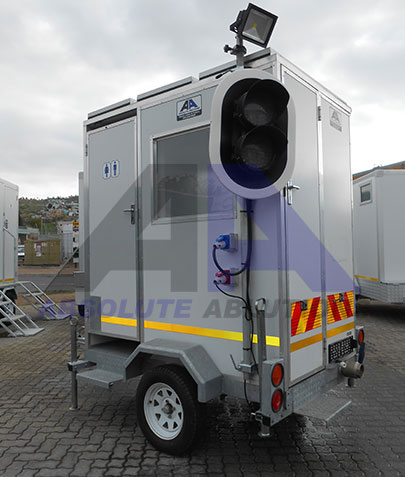 The Road Office provides a mobilised on-site base for security guardsand other personnel
