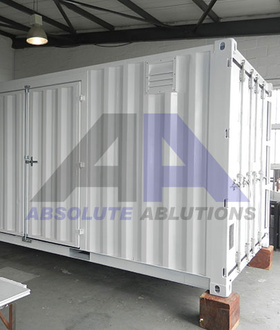 Absolute Ablutions specializes in container modifications to the customer's preference
